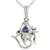 Amethyst pendant necklace, 'Mystical Ganesha' - Sterling Silver and Amethyst Necklace Hindu Jewelry (image 2b) thumbail