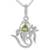 Peridot pendant necklace, 'Mystical Ganesha' - Women's Sterling Silver and Peridot Yoga Jewelry (image 2b) thumbail