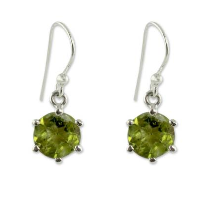 Handcrafted Sterling Silver and Peridot Earrings