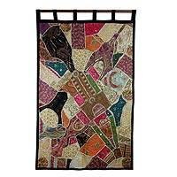 Cotton wall hanging, 'Gujarat Sunshine' - Cotton wall hanging