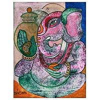 'Auspicious Face' - Spiritual Ganesha Painting