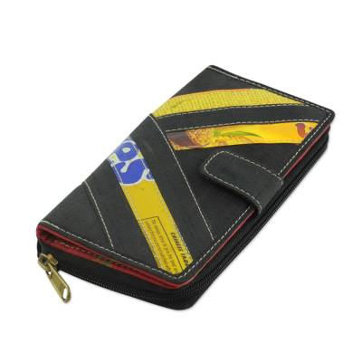 Recycled clutch wallet