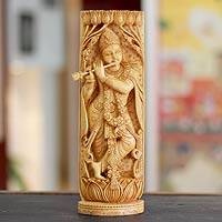 Wood sculpture, 'Hindu Romance' - Wood sculpture