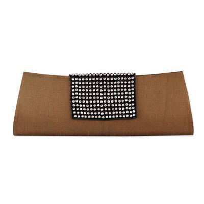 Beaded clutch evening bag