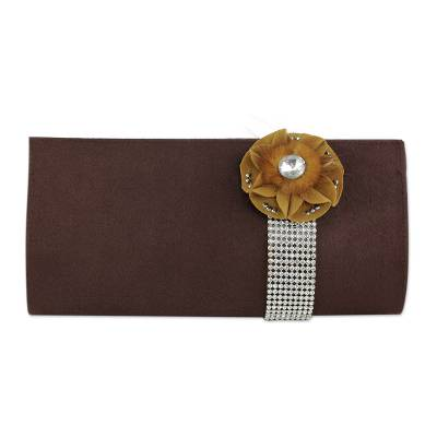 Beaded clutch evening bag, 'Glamorous' - Beaded clutch evening bag