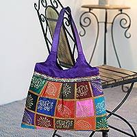 Shoulder bag, 'Paisley Elephant' - Shoulder bag