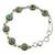 Sterling silver link bracelet, 'Green with Beauty' - Sterling Silver and Comp Turquoise Bracelet from India (image 2a) thumbail