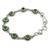 Sterling silver link bracelet, 'Green with Beauty' - Sterling Silver and Comp Turquoise Bracelet from India (image 2b) thumbail
