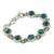 Sterling silver link bracelet, 'Sky Paths' - Silver and Comp Turquoise Bracelet from India Jewelry (image 2b) thumbail