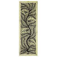 Madhubani painting, 'Life's Art' - Tree of Life Indian Traditional Painting on Handmade Paper