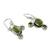 Peridot dangle earrings, 'Dew Blossom' - Green Turquoise and Peridot Earrings from India (image 2b) thumbail