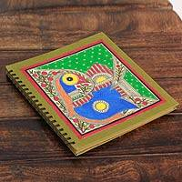 Madhubani photo album, 'Mithila Memories' - Handmade Madhubani Painting Mithila Memories Photo Album