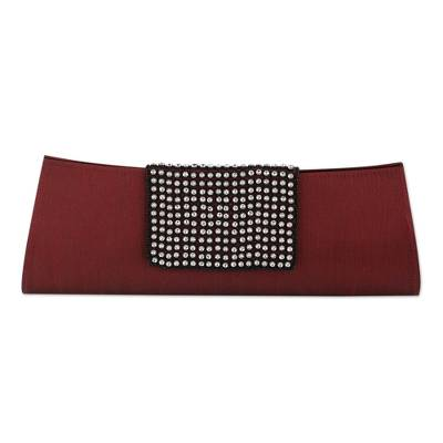 Beaded Red Clutch Evening Bag