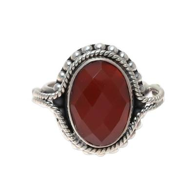 Carnelian Ring Artisan Crafted Sterling Silver Jewelry
