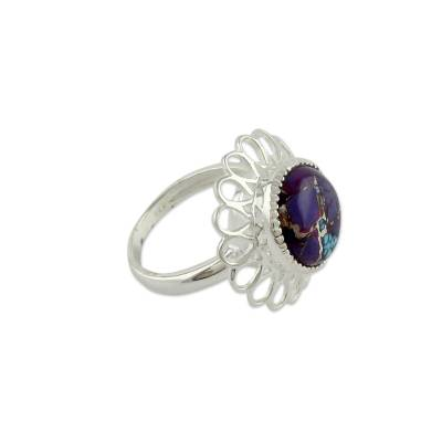 Purple Composite Turquoise Ring