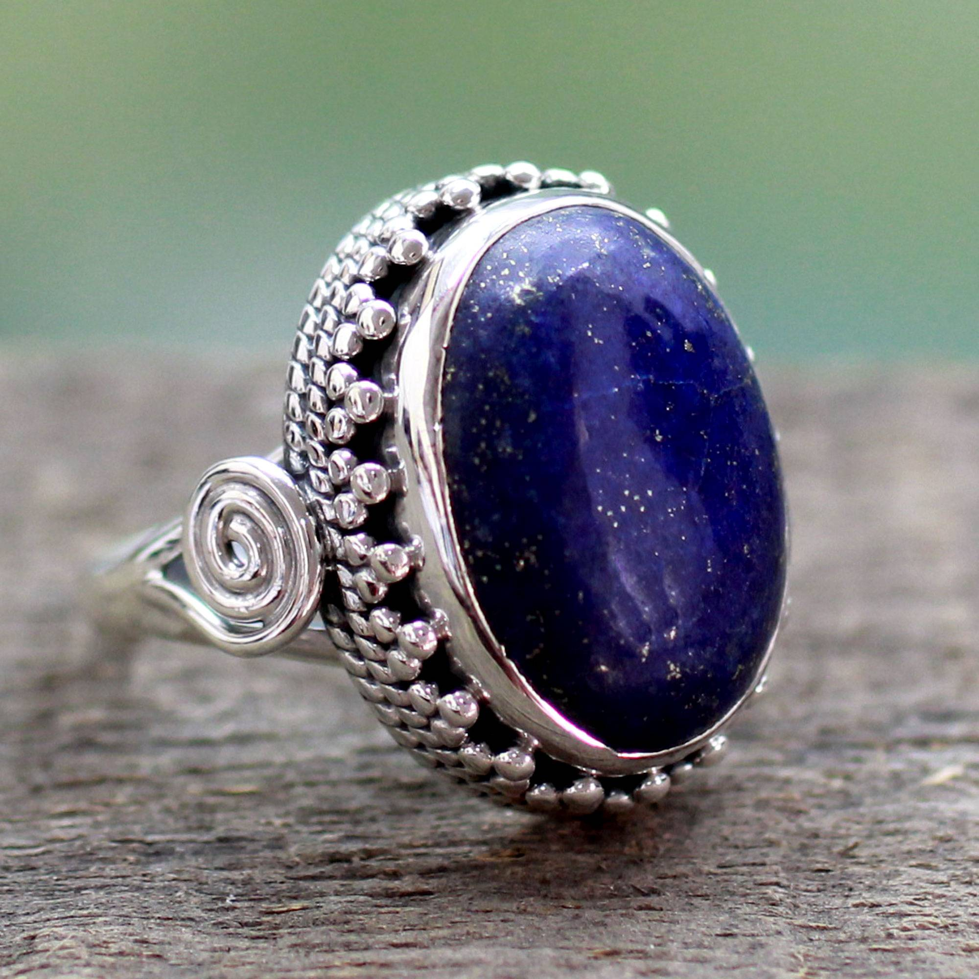 quartz handmade buy druzey ni ring the blue rings stones ornamental starry item royal livemaster