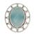 Chalcedony cocktail ring, 'Mumbai Sky' - Modern Silver Ring with Blue Chalcedony (image 2b) thumbail