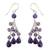 Amethyst waterfall earrings, 'Violet Cascade' - Amethyst Earrings (image 2a) thumbail
