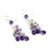 Amethyst waterfall earrings, 'Violet Cascade' - Amethyst Earrings (image 2b) thumbail