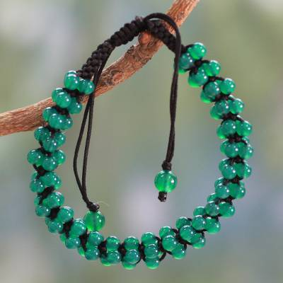 Green Onyx Shamballa Bracelet Crafted by Hand
