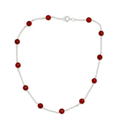 Carnelian Station Necklace