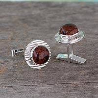 Featured review for Mahogany obsidian cufflinks, Enigma
