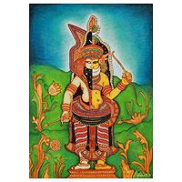 'Muthappan' - Kerala Style Painting of Muthappan