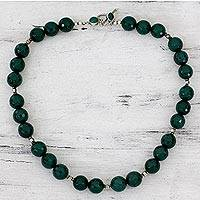 Onyx strand necklace, 'Cool Forest' - Green Onyx Necklace