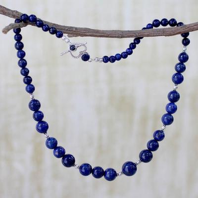 Lapis lazuli strand necklace, 'Regal Blue' - Lapis Lazuli Necklace