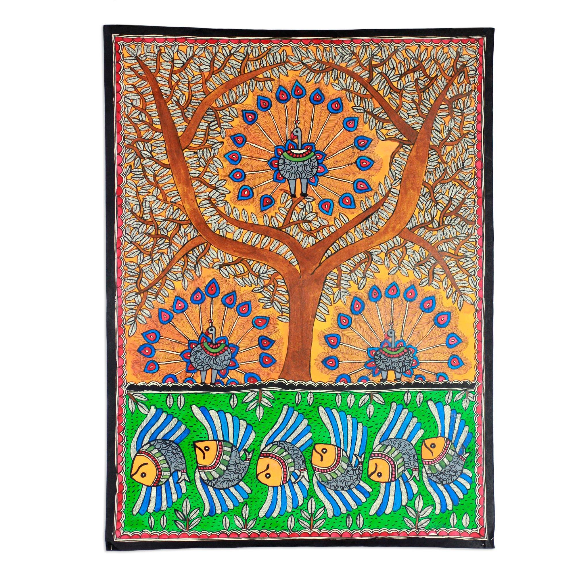 Unicef UK Market | Madhubani Painting from India - Mayura ...