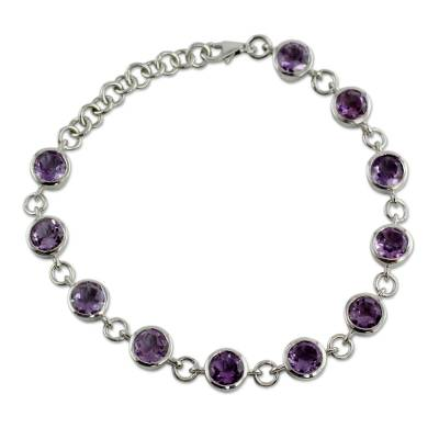 Hand Made Amethyst Bracelet from India