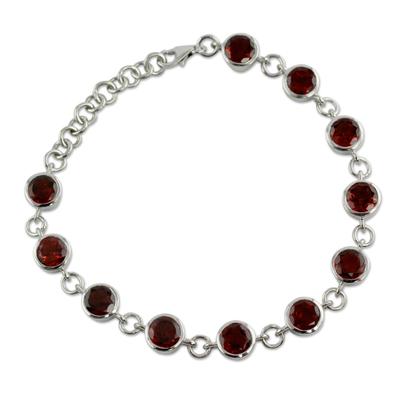 Handmade Garnet Bracelet from India