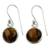 Tiger's eye dangle earrings, 'Lucky Hunch' - Tiger's Eye Earrings Sterling Silver Jewelry (image 2a) thumbail