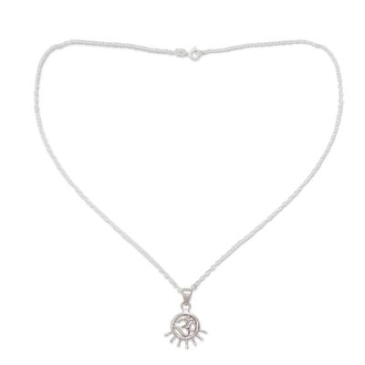 Handmade Sterling Silver Om Necklace