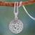 Sterling silver pendant necklace, 'Spiritual Om' - Artisan Crafted Necklace from India thumbail