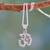 Sterling silver pendant necklace, 'Om Mantra' - Spiritual Hand Crafted Sterling Necklace from India thumbail