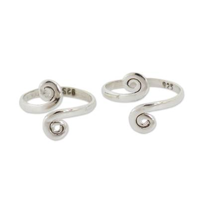 Handcrafted Sterling Silver Toe Rings from India