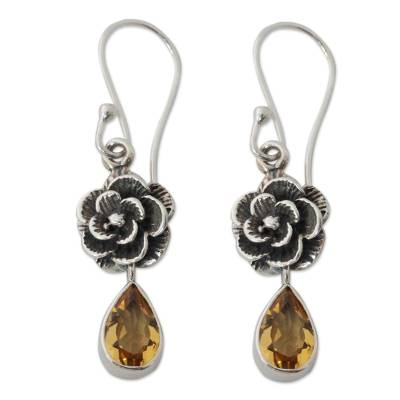 Citrine Floral Jewelry from India