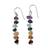 Multi gemstone chakra earrings, 'Jubilance' - Gemstone Chakra Theme Dangle Earrings thumbail
