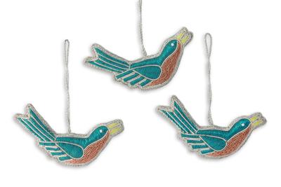 Unicef Market Hand Beaded Bird Christmas Ornaments