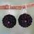 Ebony and sapphire flower earrings, 'Jaipur Jasmines' - Pink Sapphire and Ebony Handcrafted Earrings thumbail