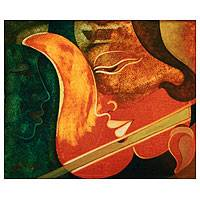 'Music Meditation' - Musical Couple in Harmony Painting