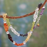Gemstone chakra necklace, 'Spirit of Friendship' - Indian Chakra Necklace