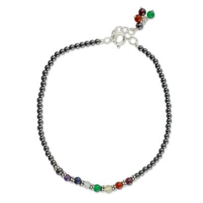 Handcrafted Multi Gemstone Anklet Chakra Jewelry