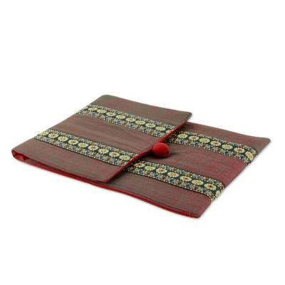 Hand-woven Cotton Tablet Case Fully Lined and Padded