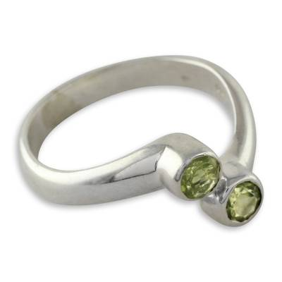 Sterling Silver Ring with Peridot