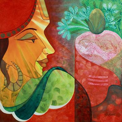 'Shiva, the Giver' - Modern Hindu Painting of Shiva
