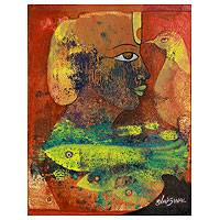 'At One with Nature' - Modern Expressionist Painting from India