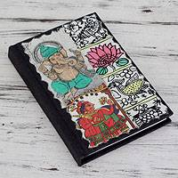 Journal, 'Ancient Ganesha' - Artisan Crafted Journal from India