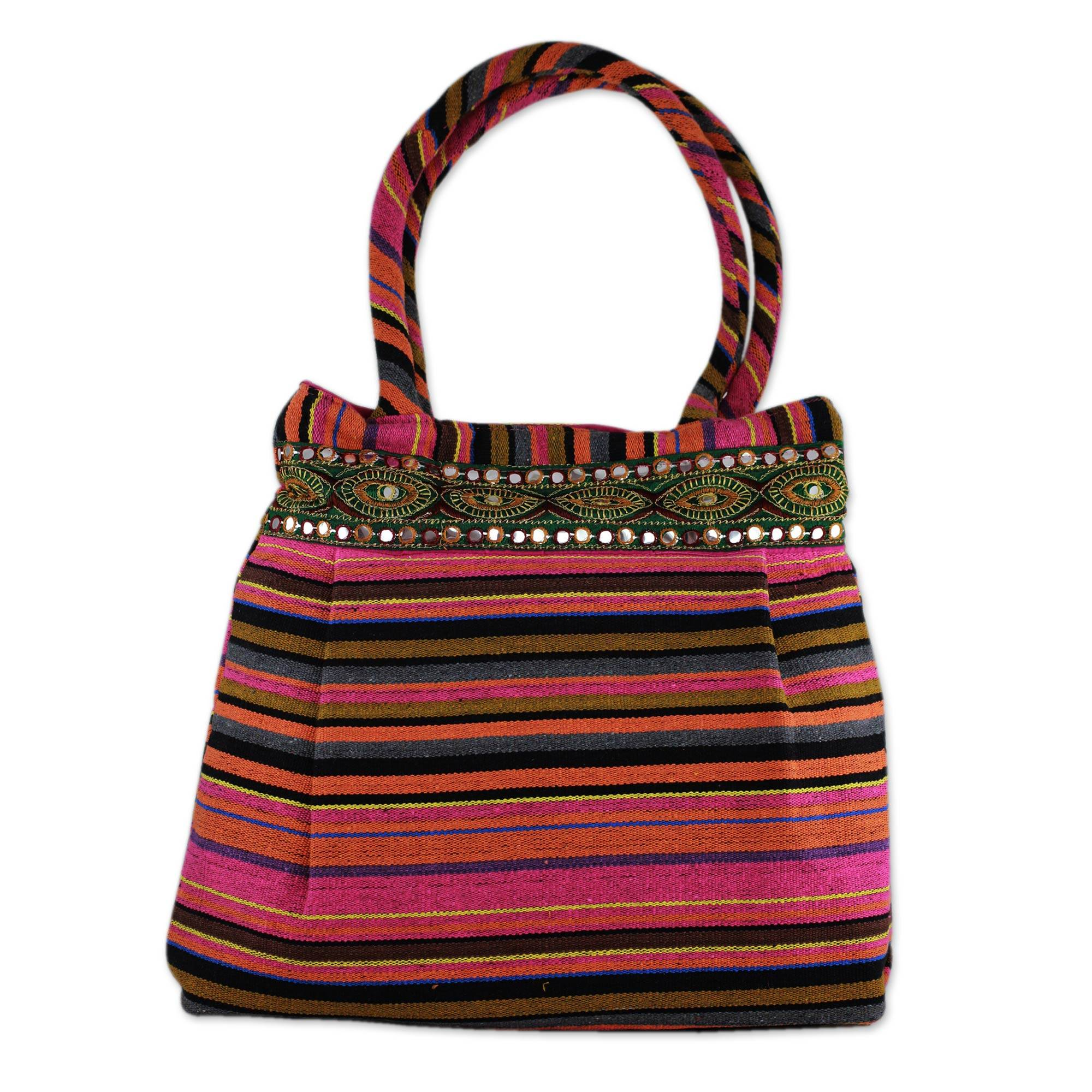 Novica Embroidered shoulder bag, Glorious Gujarat